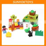 Hot Toys For christmas 2015 ! 25PCS Bustling Market Theme Environmental Building Blocks Educational Toys Factory In China