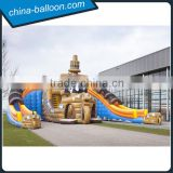 Mega Glijbaan Amazing giant inflatable slide / Inflatable Pirate Ship Double Slide                                                                                                         Supplier's Choice