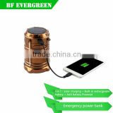 Camping latern Solar Rechargeable Lamp 6 LED Tent Lantern Lamp