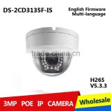 DS-2CD3135F-IS H.265 3MP IP web camera dome POE cam ds-2cd3135-i replace ds-2cd3132-i ds-2cd3132 ds-2cd3132f-is ds 2cd3132