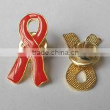 red cross ribbon pin badge,public welfare activities pin badge, Pink Ribbon Day lapel pin,iron soft enamel pin bage