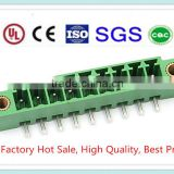 High Quality Brass Pin Green Plastic Plug-in 3.81mm 3.5mm PCB Terminal Block XS2ESDA with UL, CE, ISO, SGS,CQC Approved
