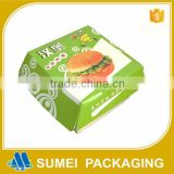 fast food box for hamburger and fried chicken