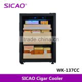 High grade display glass door electric cigar humidor