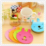 Animal face cute fabrics coaster pager