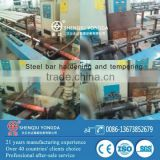 Steel bar hardening and tempering machines