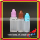 Hot selling of plastic eye dropper 30ml PE eye dropper bottle with childproof cap for e liquids