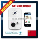 wireless door bell hidden camera 1MP HD camera compatible with iOS and Android device CE FCC RoHS approved