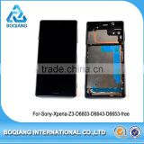 LCD Touch Screen with Digitizer assembly frame For Sony Xperia Z3 phone