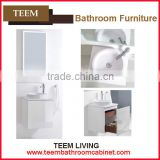 2016 new design concise italian style modern Multi layer solid wood home furniture Sanitary bathroom mirror cabinet