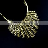18inch retro antique gold chic engraved vintage metal collar chunky choker statement necklace,fashion jewelry 6350173
