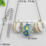 Custom-made beads titanium steel color necklace cord wholesale