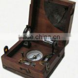 Nautical Master Box, Nautical Telescope, Compass, Spirit Level, Alidade, Clinometer with lock