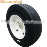 cheap 4.00-8 solid rubber tires and wheels trailer parts free shipping with quality warranty