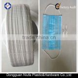 Factory supply for disposable surgical face mask metal plastic nose wire