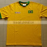 2014 brazil world cup Football fan cheap t-shirt ,Wholesales country team football soccer t-shirt for 2014 world cup