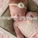 Newborn Baby Girls Lace Rompers Pink Cute Clothes Vintage Lace Rompers