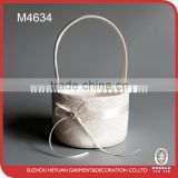 M4634 Round Shape Wide Lace Flower Girl Basket