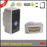 New Arrival Code reader Diagnostic Tool Super mini ELM327 WiFi with Switch work  with iPhone OBD-II OBD Can