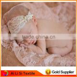 Hand Knit Baby Lace Stretch Wrap Photography Prop Newborn Baby lace clothing Baby Photography Props