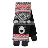 Microwavable Cute Black BEAR Neck Warmer Scarf