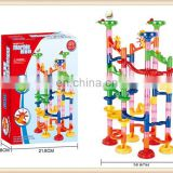 91PCS with glass marble educational diy block Marble Run toy