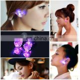 9 Colors Christmas Light Up LED Earrings Studs Flashing Blinking Earrings Dance Party Accessories unisex for Men