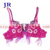 Special design diamond nice belly dance sequin beaded bra for competition YD-021#