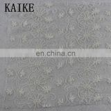 Custom wholesale malaysia polyster cotton white embroidery lace fabric