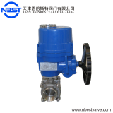 DN32 motorized stainless steel 3pcs ball valve AC220V