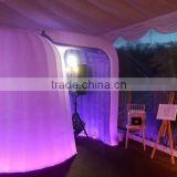 2016 Hot sale outdoor inflatable LED light photo booth enclosure