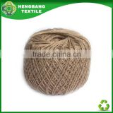 Yarn buying agent of 2ply buff color recycled cotton twine ball HB297 China