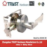 6932SN-BK:TRUST Zinc alloy Heavy-duty Tubular Privacy Lever Lock