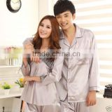 2014 Style Lady & Men's silk satin couples pajamas sleepwear homedress