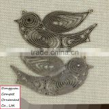 Wholesale diy metal jewelry zinc alloy hollow out swallow bird pendant