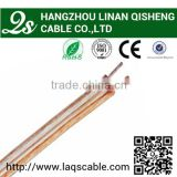 Factory outlet audio cable , speaker cable copper conductor transparent jacket with high quality and competitive price