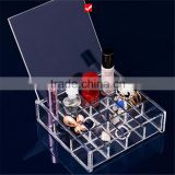 Clear Acrylic Make Up Organizer Acrylic Cosmetic Box Clear Acrylic Lipstick Organizer/Holds 24 Lipstick