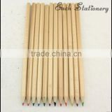 promotional HB 7inch natural wooden drawing color lead pencil wood pencil,natural wood pencils,pencil without eraser head