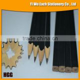 7 Inches HB Lead Wooden Square Pencils With Black Painting On the Surface
