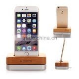 Real Wood Desk Holder Table Stand for iPhone 6