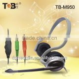 2014 new MP3 Mp4 PC computer neckband headphone earphone headset with mic and volume control for Tablet/PC/Smart cell phone