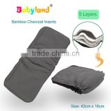 Free Shipping Double Guessets Organic Charcoal Bamboo Diaper Inserts With Private Label