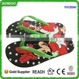 wholesale cartoon EVA sole PVC strap slippers flip flops for kids,kids cartoon slipper flip flops