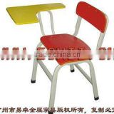 Student chair with writing board/Wooden school chair with writing pad/School chair with writing board
