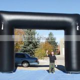 Hot selling advertising inflatable entrance arch for event/Black PVC Advertising Start Line Archway