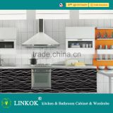 Linkok Furniture High gloss finish Easy fitted acrylic integral solid surface ghana kitchen sink