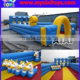 4 lane inflatable pony hop race track, inflatable horse riding,inflatable derby horse sport games