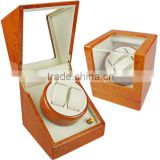 Nice orange custom printing wooden watch winder boxes automatic