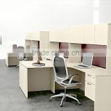 Modern Office Cubicle With hanging Storage Cabinet Computer Desk Wall Office Workstation(HX-82)