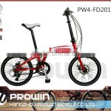 20 7SP folding bicycle with derailleur/ folding bicycle/ cheap folding bike(PW4-FD20105)